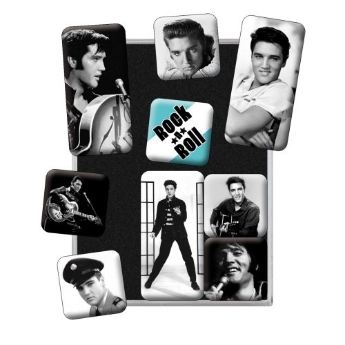 9 Teiliges Magnet Set Elvis Presley