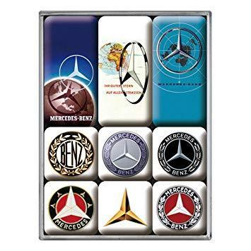Mercedes-Benz - Logo Evolution  Retro Magnet-Set (9teilig)