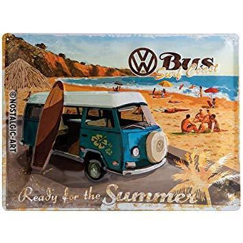 Blechschild VW Bulli - Ready for the Summer,