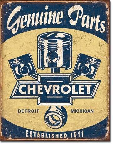Blechschild Genuine Parts Chevrolet original US GM