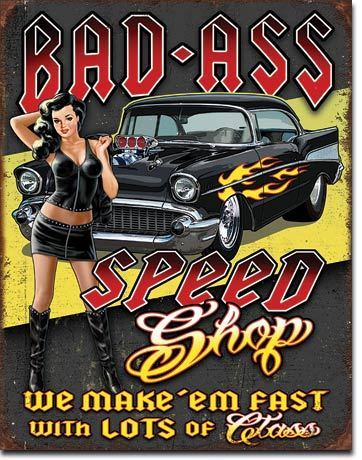 US Blechschild Bad Ass Speed Shop