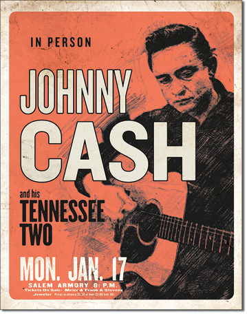 US Blechschild Johnny Cash & His Tennesse Two