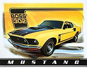 US Blechschild Mustang Boss 302