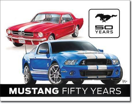 US Blechschild Mustang 50th Years
