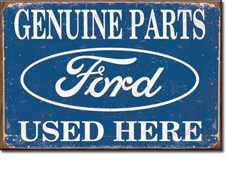 US Blechschild Ford Logo