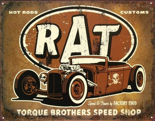 US Blechschild RAT Rod