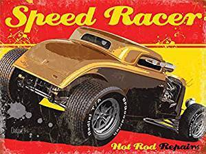 US Blechschild Speed Racer