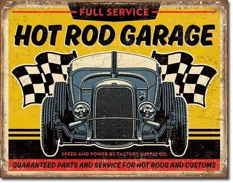 US Blechschild Hot Rod Garage Full Service