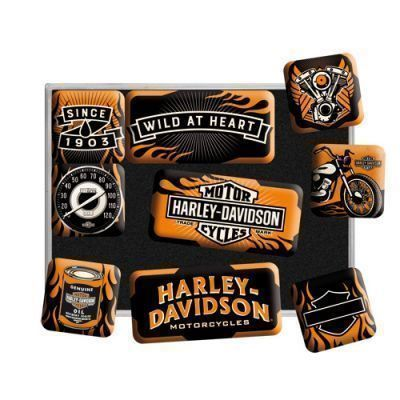 9 Teiliges Magnet Set Harley Davidson Wild at Heart